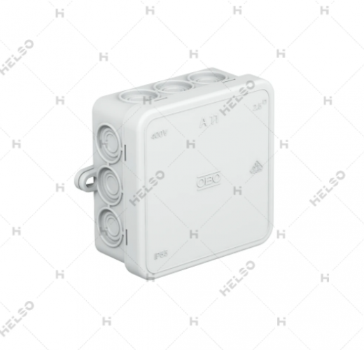 Virštinkinė paskistymo dėžutė A11 85x85x40mm IP55 HF