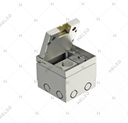 Grindinė dėžė UDHOME2 VV 2x45 moduliniai lizdai 125x125 H-110-130